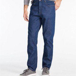 LL Bean Natural Fit Dark Wash Jeans 36 x 30
